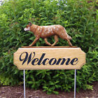 Australian Cattle Dog Welcome Sign Stake. Home & Garden Dog Wood Products-Gifts.