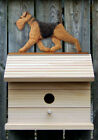 Bird House W/ Airedale on Peak. Home,Yard & Garden Dog Design Products & Gifts.