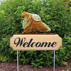 Pomeranian Welcome Sign Stake. Home,Yard & Garden Decor Dog Wood Products-Gifts.