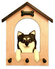 Adult Chihuahua (Long Hair) Dog House Leash Holder. In Home Wall Decor Products.