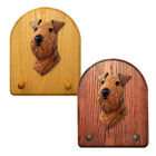 Airedale Dog Figure Key Leash Holder. In Home Wall Decor Products & Dog Gifts.