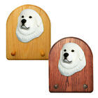 Great Pyrenees Dog Figure Key Leash Holder. In Home Decor Wood Products & Gifts.