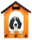 Basset Hound Dog House Leash Holder. In Home Wall Decor Wood Products & Gifts.