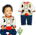 Boys Cool Cowboy Romper Dress Up Birthday Party 0/9-12M/1T NEW
