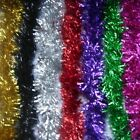 10 Tinsel Christmas Decoration 2mx9cm in Silver Gold Black Blue Purple