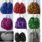 1 Pair Pom Poms Cheer Leader Hen party Fancy Dress in Silver, Gold, Purple,Balck