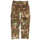 COMBAT TROUSERS WARRIOR MENS TACTICAL ARMY WORK PANTS + KNEE PADS VEGETATO CAMO