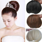 Woman's Girls Big Hair Buns Clip-in Hair Extensions For Beautiful Bride Wig KP06