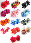 "2X Artificial Silk Dahlia Flower Heads 4"" for Home Wedding decoration Hair Clip"