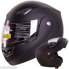IV2 Bluetooth Compatible, MATTE BLACK, MODULAR FLIP UP, MOTORCYCLE HELMET [DOT]