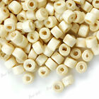 1100 Loose Donut Wooden Wood Spacer Beads Charms Wholesale Lots 3x4mm Free Ship
