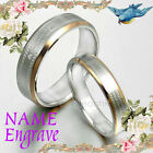 Gold His/Her Matching Wedding Engagement Bands Titanium Couple Rings Set 4/6m