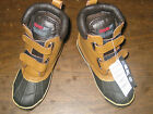 DUCK BOOTS BROWN Easy Fastener Thermolite Performance Insulation Boys