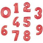 """34"""" RED FOIL NUMBER SUPERSHAPE BALLOON ANY NUMBER AVAILABLE"""
