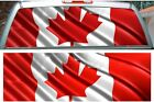 Canada flag rear window view thru perforated graphic film