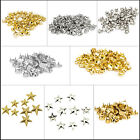 50 or 100 - 7mm Round Nail Head Studs in Gold for Leather  & Others