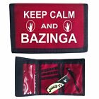 BIG BANG THEORY WALLET keep calm BAZINGA sheldon RIPPER - T shirt in shop R1
