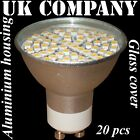 20 x GU10 - 60 SMD LED  WARM / DAY WHITE Replaces 60 W HALOGEN BULBS