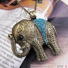 Dazzling Green Crystal Lovely Elephant Charm Chain Necklace