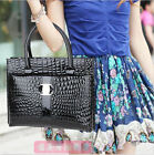 New Hot Womens Stylish Office Lady Crocodile Print Handbag Tote Bags Luxury AA