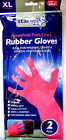 PINK HOUSEHOLD RUBBER GLOVES - 2424