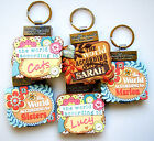 """WORLD ACCORDING TO"" PERSONALISED KEYRING BOOKS - NAMES L"