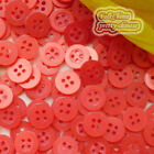 Red 4 Holes 11mm Shirt Plastic Buttons Sewing Craft 4SB