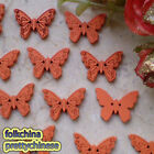 Orange New Butterfly 22mm Wood Buttons Sewing Scrapbooking Craft NCB035-6