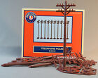 LIONEL FASTRACK TELEPHONE POLES train fasttrack fast track tele phone 6-62181