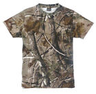 HUNTERS T-SHIRT Mens S-XXL oak tree camo tee cotton fishing hunting shooting top