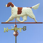 Irish Red and White Setter Hand Carved Weathervane. Home,Barn-Roof Dog Products.