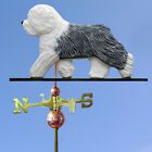 Old English Sheepdog Wood Hand Carved Weathervane. Home,Barn-Roof Dog Products.