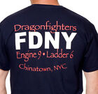 "FDNY Engine 9 - Ladder 6 Dragonfighters"" Chinatown Tee Shirt"
