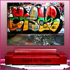 ab105 Abstract Graffiti Art Red Green Yellow Giant Wall Art Poster A0