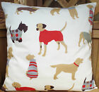NEW SCATTER CUSHION COVERS BROWN POODLE SAUSAGE DOG POINTER SCOTTY DOGS