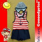 Baby Child Bathing Swimwear One-Piece With Cap Boy Sailor Style with Size Chart