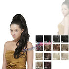 Hairpiece long synthetic Ponytail extension wavy layered hair piece