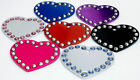 Small Pet ID Dog Puppy Tag Disc, Crystal Heart, FREE ENGRAVING