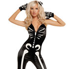 Sexy Skeleton Glow in the Dark Jumpsuit Women's Adult Costume Adult Skull 9594