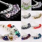 Wholesale Crystal Glass Loose Charms Beads Pink/Red/Black/Red/Purple/Blue/Golden