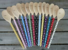 Hand painted Shabby Chic Spotty Polka Dot Wooden Spoon 19 Colours Gift Wrapped