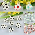 Wholesale Enamel Football Soccer Sports 12mm Ball Charms Pendant Beads Jewelry