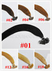 "100S 20"" Remy Flat Tip Human Hair Extensions 50g, 12 colors available"