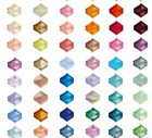 100pcs loose glass crystal bicone spacer beads 4mm AB Color You Choose