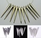 20/50pcs Silver/Golden/Black Acrylic Spike Charms For Basketball Wives Earrings