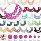 4/6/810mm Glass Pearl spacer Round Loose beads Jewelry Finding wholesale
