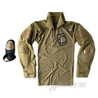 HELIKON TACTICAL ARMY UNDER BODY COMBAT SHIRT UBACS + ELBOW PADS AIRSOFT COYOTE