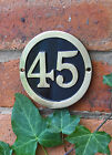 Round Brass & Black House Number Signs ( 1 - 30)