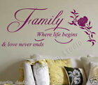 WALL QUOTES  Family  WALL DECAL STICKERS HOME WALL ART WALL QUOTE STICKERS  N82