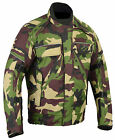 Green Camouflage CE Armoured Motorcycle Bike Wind Waterproof Cordura Jacket